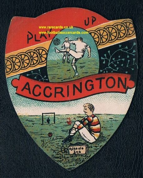 Accrington Stanley Victorian Sharpe's shield-shaped card